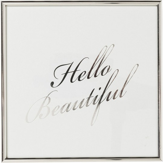 Tableau Frame Hello Beautiful 27x27cm Kare Design