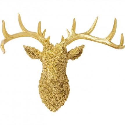 Tête cerf roses dorées Kare Design