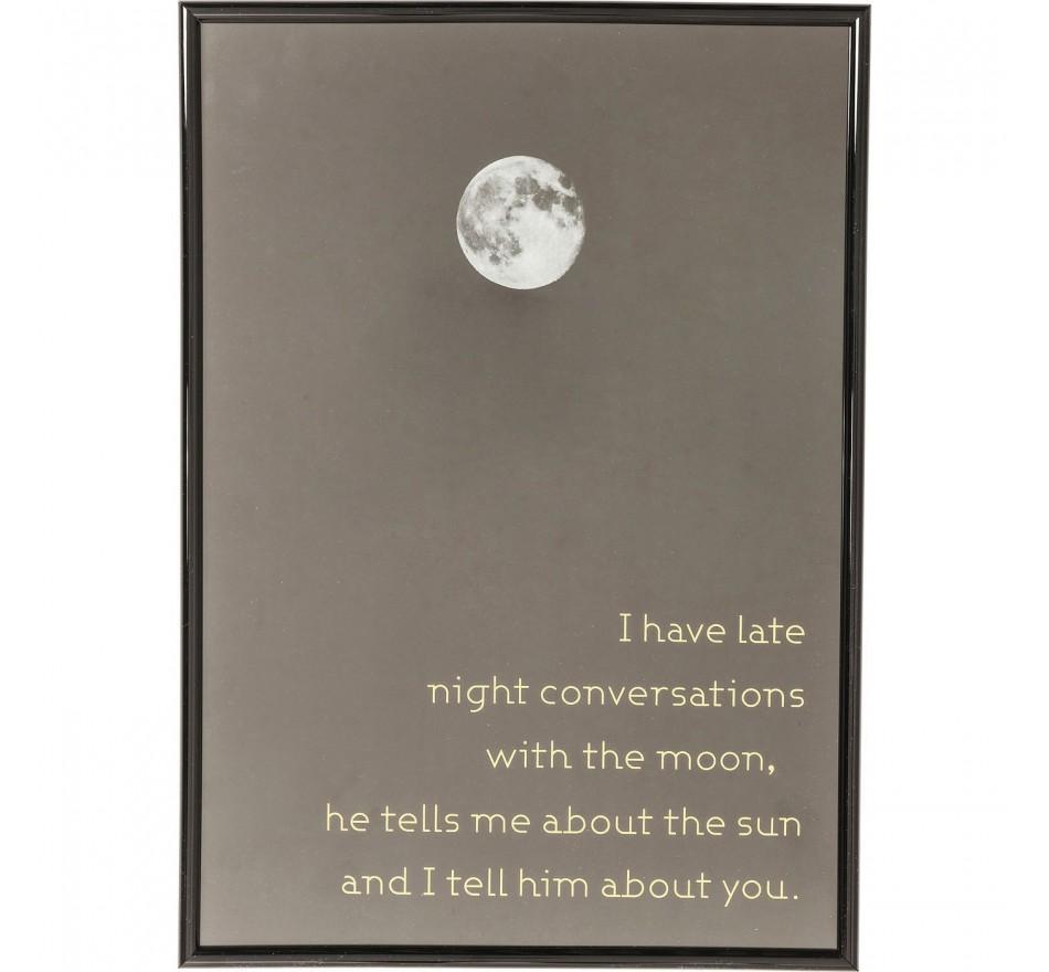 Tableau Frame Moon 41x29cm Kare Design