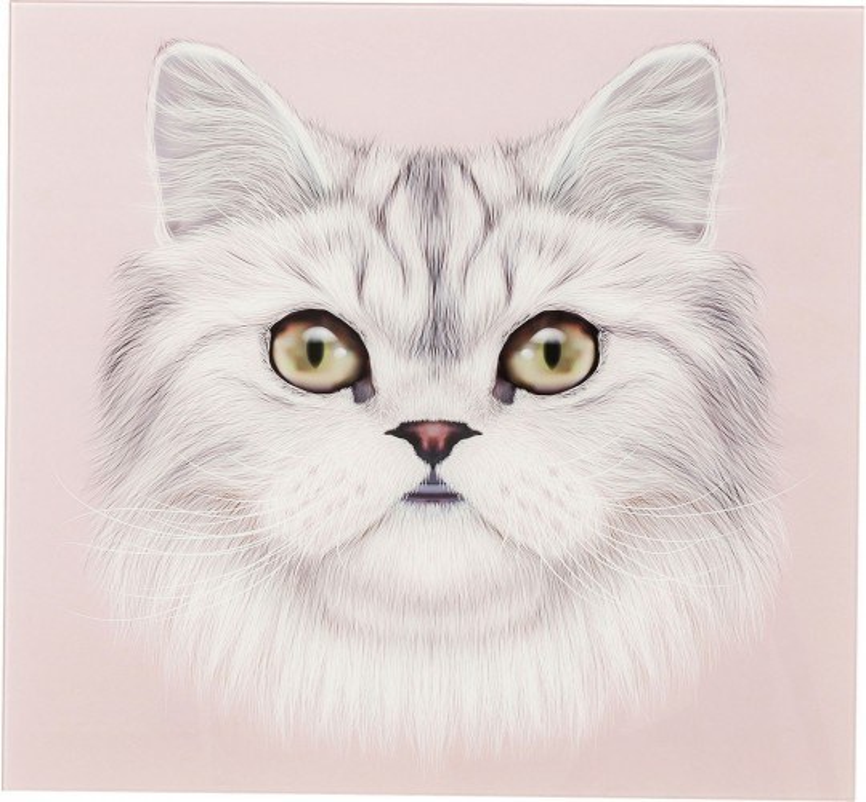Tableau en verre Cat Face 60x60cm Kare Design