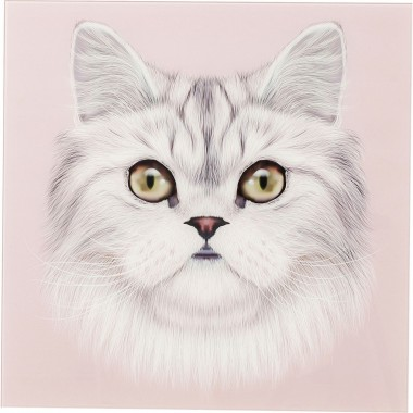 Tableau en verre Face Chat 60x60cm Kare Design