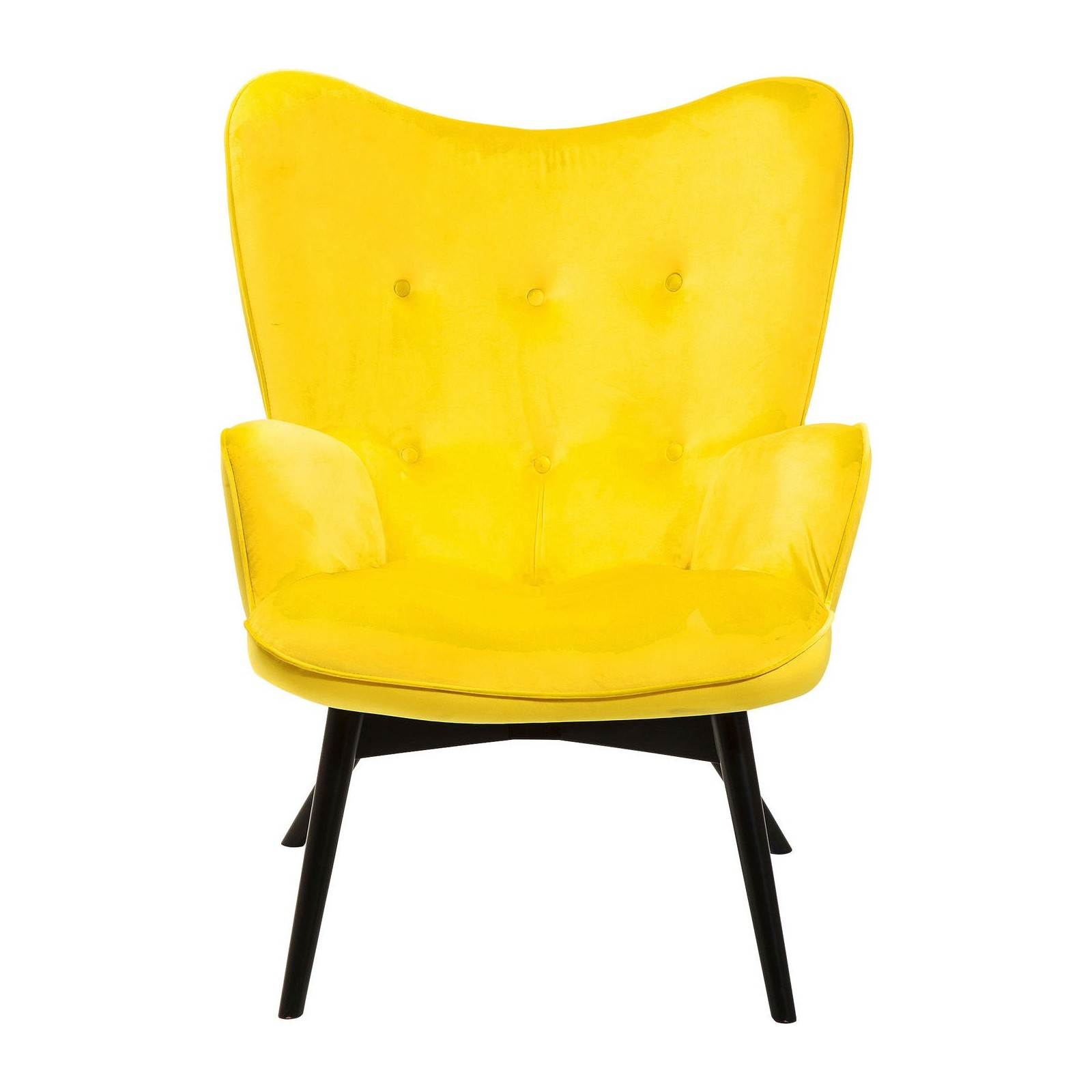 fauteuil retro en velours jaune vicky kare design. Black Bedroom Furniture Sets. Home Design Ideas