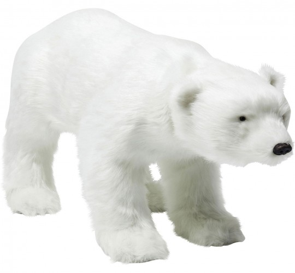 Figurine décorative Move Sound Baby Polar Bear Fur