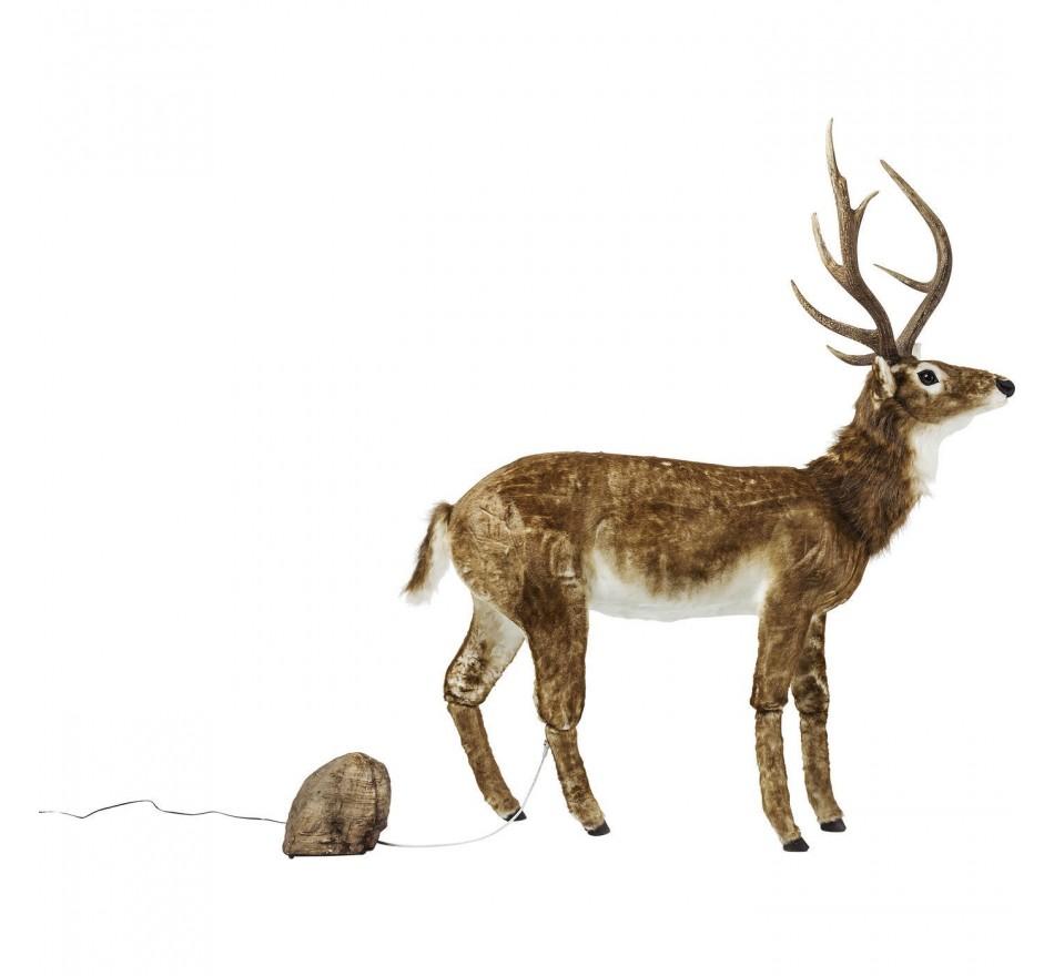 Figurine décorative Moving Sound Deer Fur