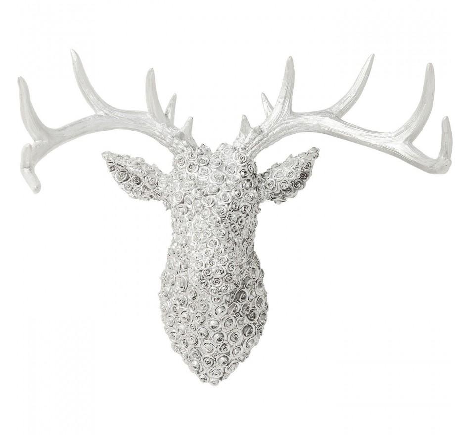 Tête décorative Deer Roses chromé