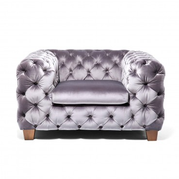fauteuil chesterfield baroque en velours gris my desire kare. Black Bedroom Furniture Sets. Home Design Ideas