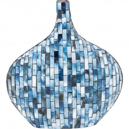 Vase Mosaico bleu 33cm Kare Design