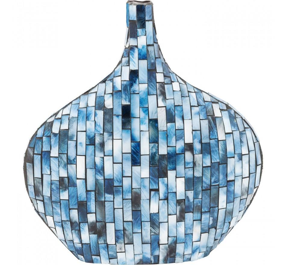 Vase Mosaico bleu 33cm