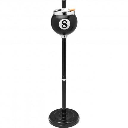 Cendrier sur pied Billard 8 noir Kare Design