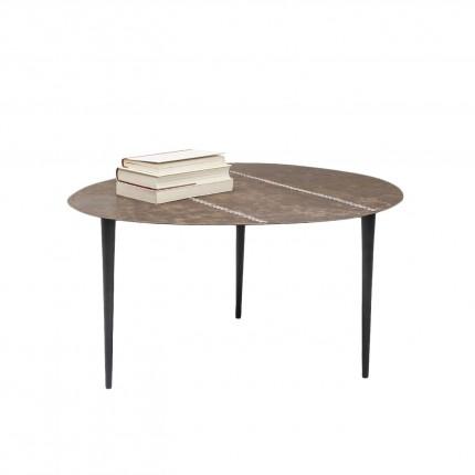 Table basse Egg cuir 65x75cm Kare Design
