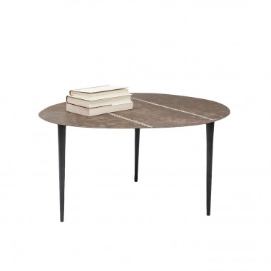 Table basse Egg cuir 65x75cm Kare Design