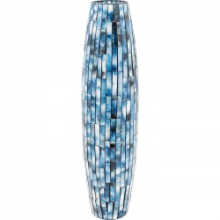 Vase Mosaico bleu 59cm Kare Design