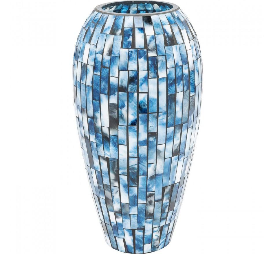 Vase Mosaico bleu 40cm