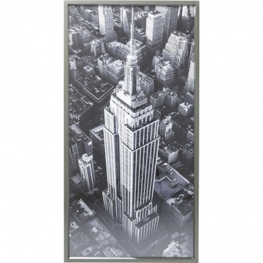 Tableau Frame Empire State Building View 166x86cm