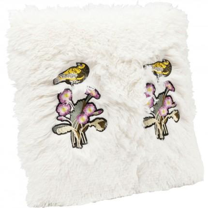 Coussin Fur Birds Flower 40x40cm Kare Desgin