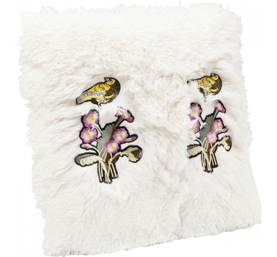 Coussin Fur Birds Flower 40x40cm