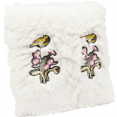 Coussin Fur Birds Flower 40x40cm