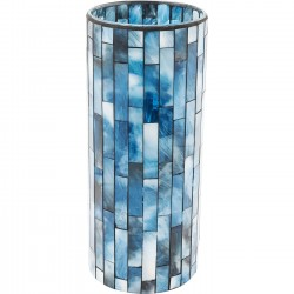 Vase Mosaico bleu 25cm