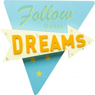Applique lumineuse Follow your Dreams Kare Design