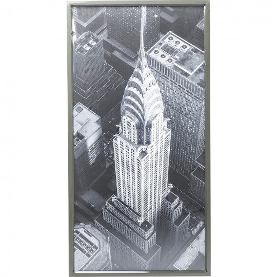 Tableau Frame Chrysler Building View 166x86cm