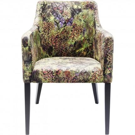Chaise avec accoudoirs Mode jungle vert Kare Design