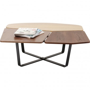 Table basse Patches bois Kare Design