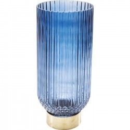 Vase Barfly bleu foncé 34cm