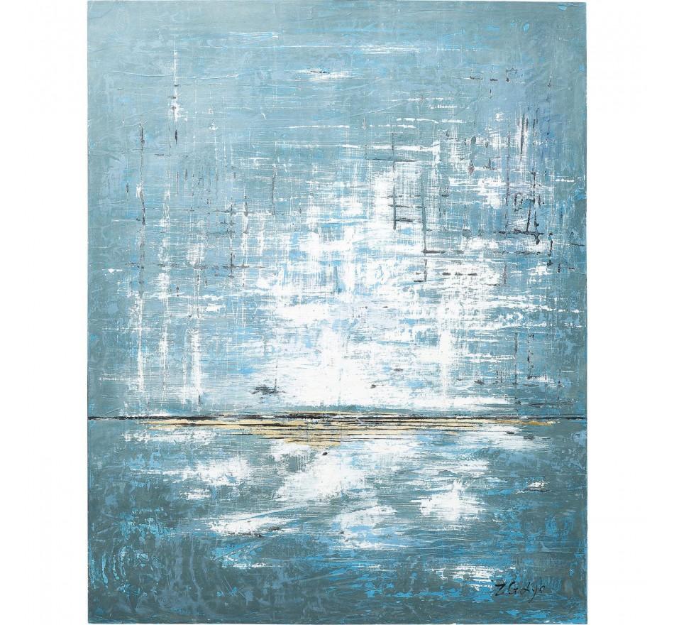 Peinture à l'huile Abstract bleu 150x120cm Kare Design