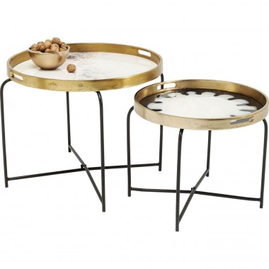 Tables d'appoint Mystic Flower set de 2 Kare Design