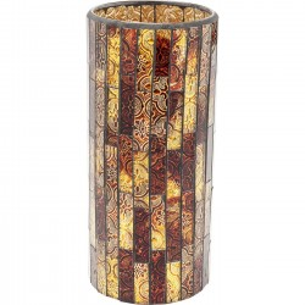 Vase Mosaico marron 25cm Kare Design