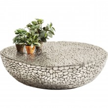 Table basse Pebbles Deluxe argenté 115x110cm