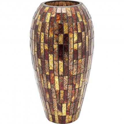 Vase Mosaico marron 40cm Kare Design