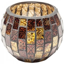 Photophores Mosaico marron 10cm set de 2 Kare Design