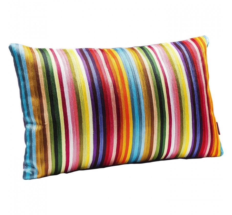 Coussin Stripes multicolore 30x50cm