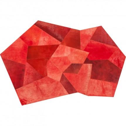 Tapis Asymmetric rouge 240x170cm Kare Design