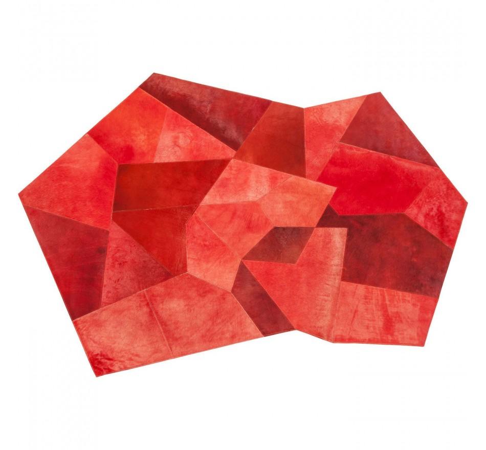 Tapis Asymmetric rouge 240x170cm