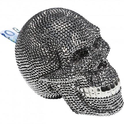 Tirelire Skull Crystal argentée