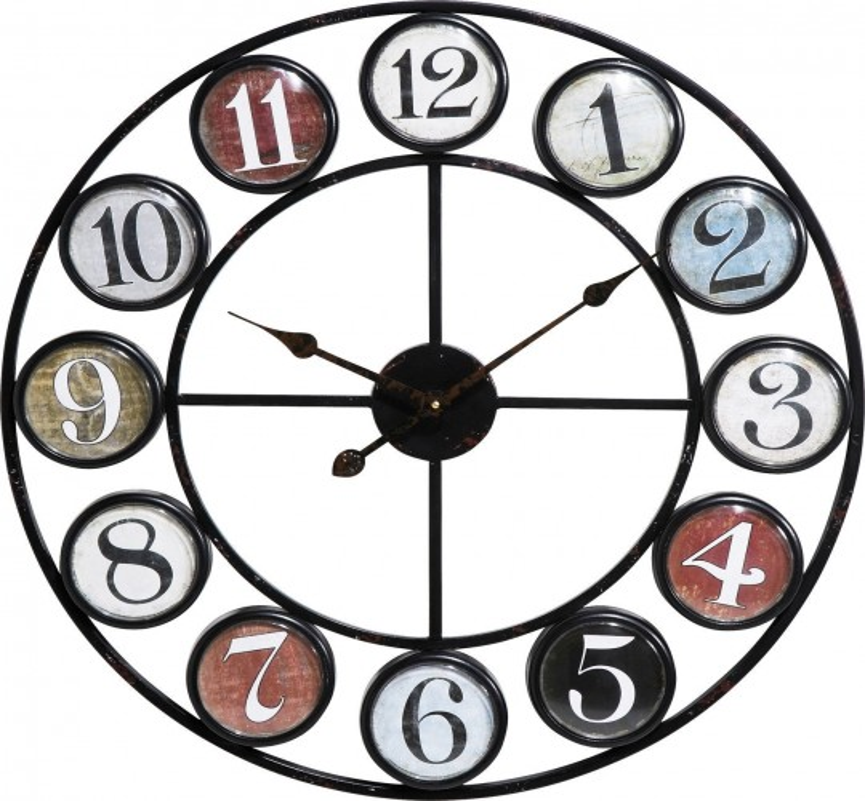 Horloge murale Vintage Coloure Ø68cm