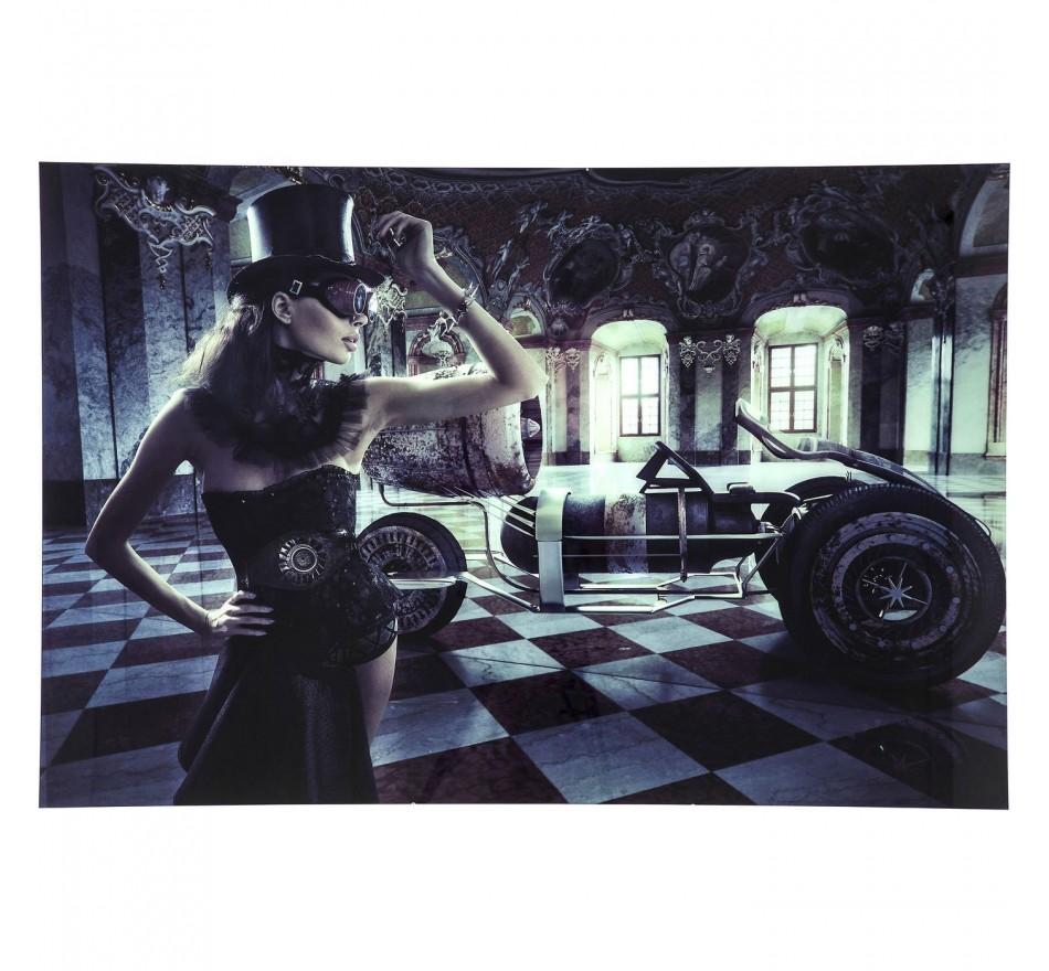 Tableau en verre Circus Queen 100x150cm