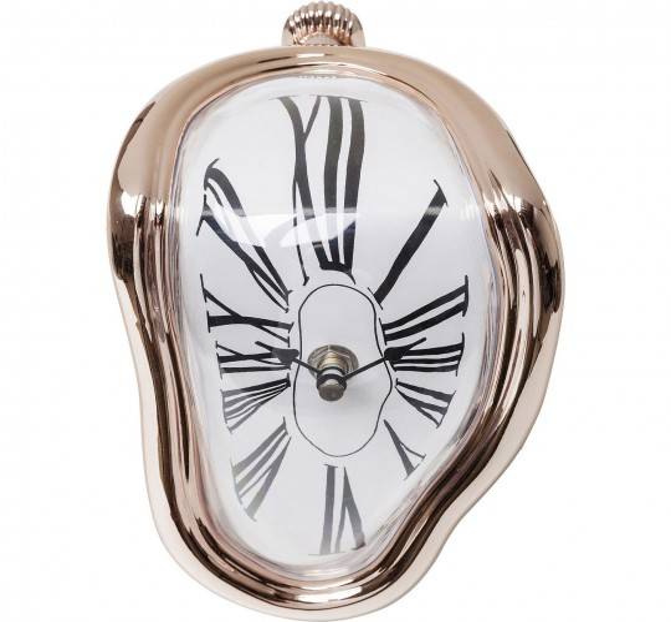 Horloge de table Flow or rose Kare Design