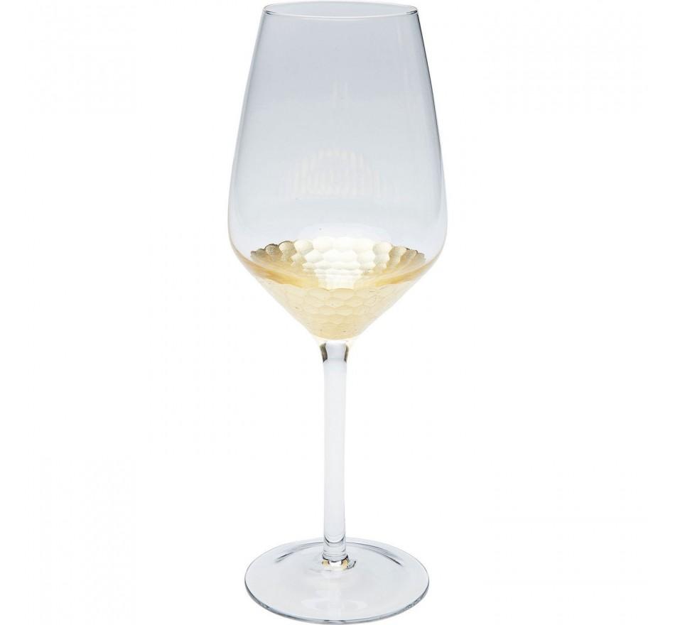 Verres à vin blanc Gobi set de 6 Kare Design