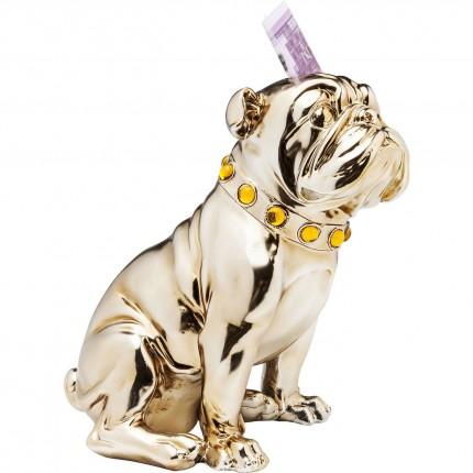 Tirelire Sitting Bulldog or rose 26 cm Kare Design