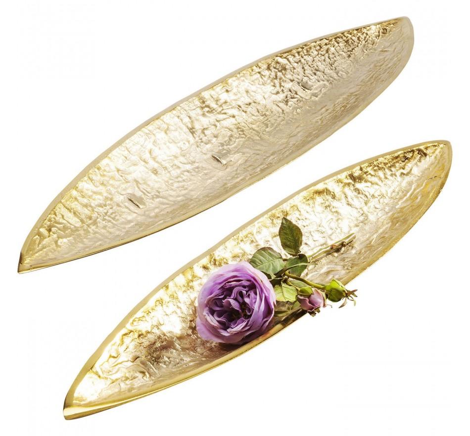 Coupes décoratives Fern or set de 2 Kare Design
