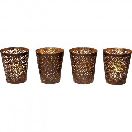 Photophores Ethno Style 9cm set de 4 Kare Design