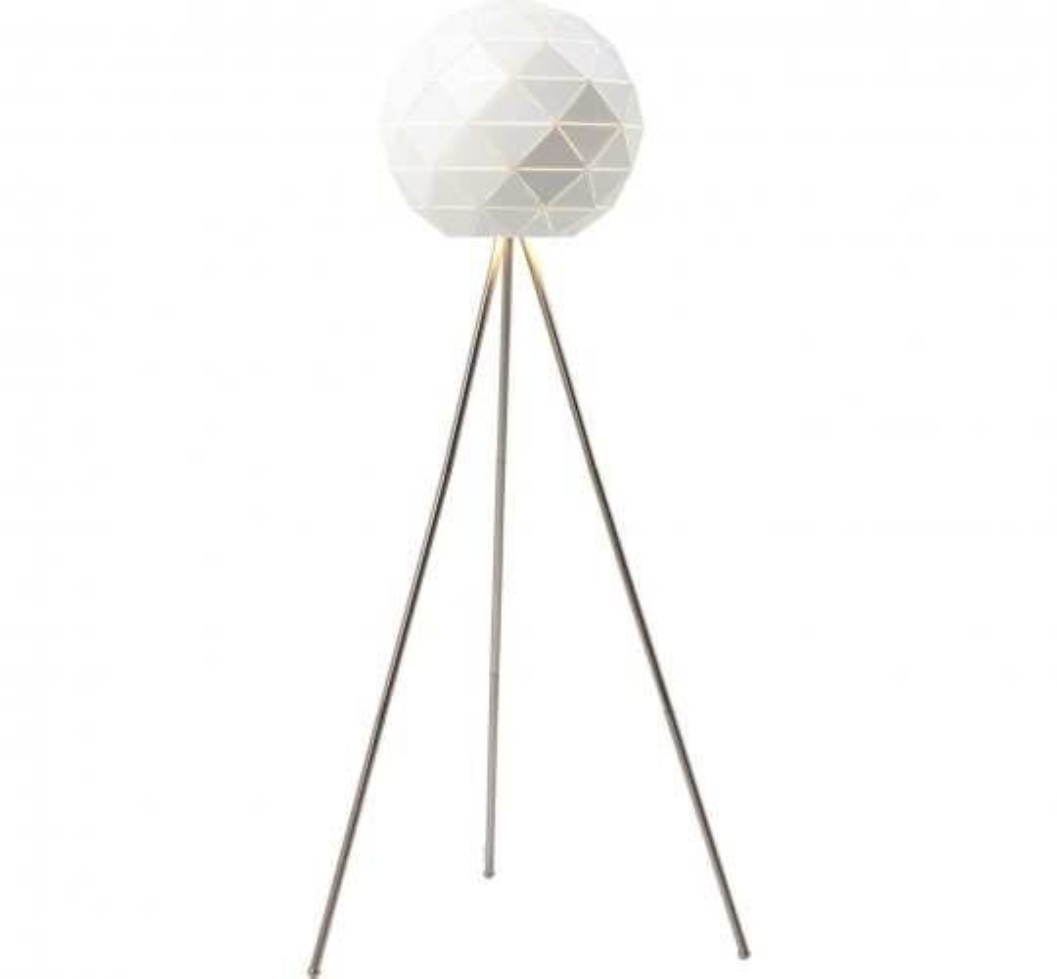Lampadaire Triangle blanc