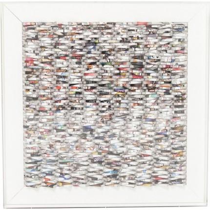 Tableau Paper Art 90x90cm Kare Design