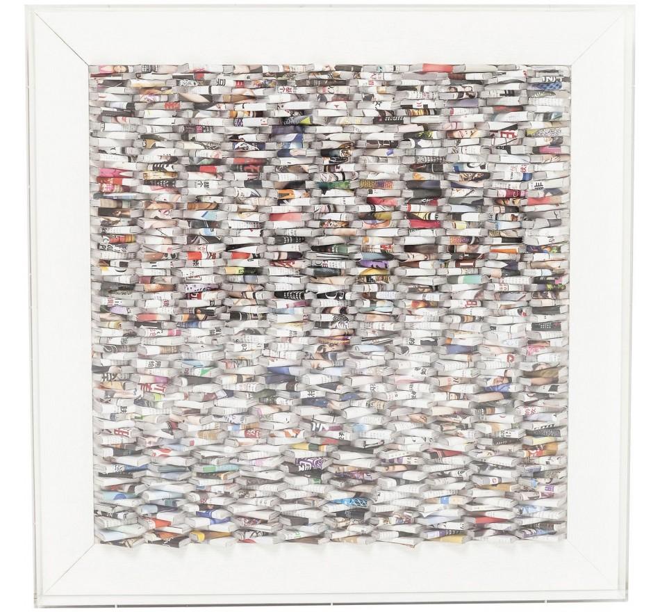 Cadre décoratif Paper Art 90x90cm