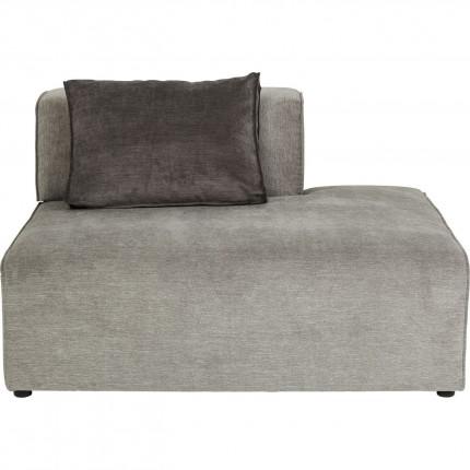 Méridienne droite canapé Infinity gris Kare Design