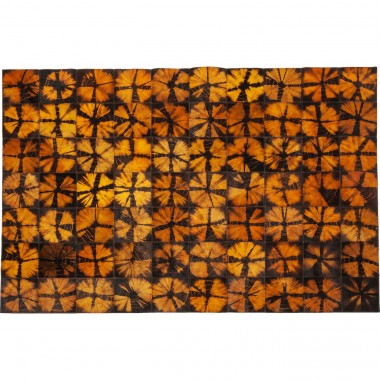 Tapis Batik orange 240x170cm Kare Design