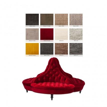 Canapé rond Boudoir 198cm sur-mesure Kare Design